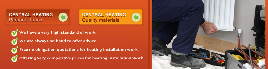 Leamington, warwick, stratford upon avon central heating installation